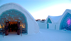 The Ice Hotel or L'Hotel de Glace